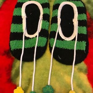 St. Patrick's Day Slipper Socks